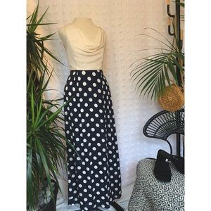 NWT ANTHROPOLOGIE Silk Cream and Polka Dot dress